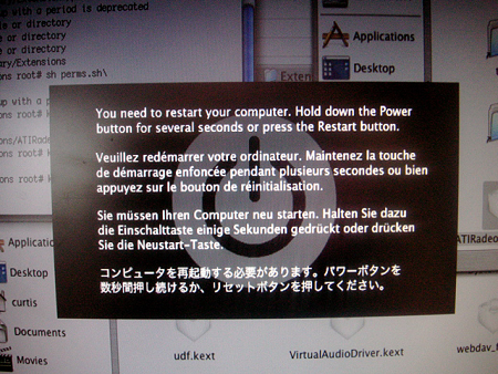 ATI Error Message, telling the use to restart their computer